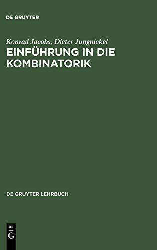 9783110167276: Einfuhrung in Die Kombinatorik (de Gruyter Lehrbuch)