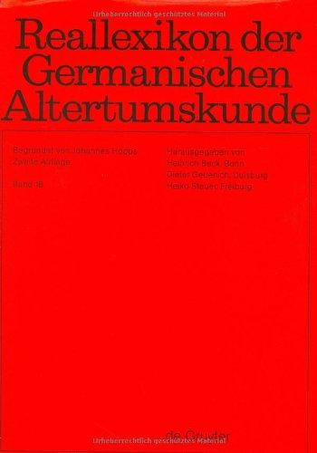 Reallexikon Der Germanischen Altertumskunde: Band 16: KarolingerTKleindichtung (German Edition): ...