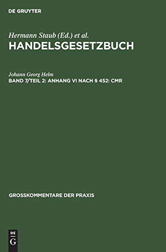 Anhang VI Nach 452: Cmr: Georg Helm, Johann: