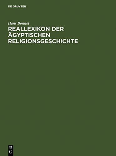 9783110168846: Reallexikon der ägyptischen Religionsgeschichte: Reallexikon der agyptischen Religionsgeschichte
