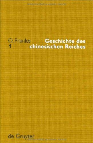 9783110170344: Geschichte Des Chinesischen Reiches (Unveranderte Neuausgabe Der 2. Auflage Von 1948 Bis 1965)