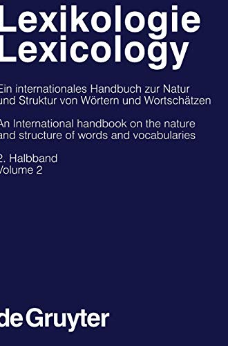 9783110171471: Lexikologie/Lexicology: v. 2 (Handbooks of Linguistics and Communication Science)