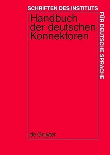 9783110174595: Handbuch Der Deutschen Konnektoren (German Edition)