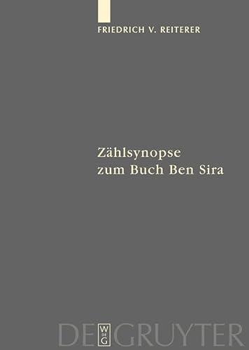 Zählsynopse zum Buch Ben Sira (Fontes Et Subsidia Ad Bibliam Pertinentes) (German Edition): ...