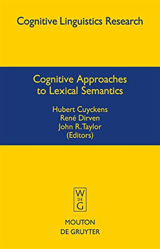 9783110177091: Cognitive Approaches to Lexical Semantics (Cognitive Linguistics Research)