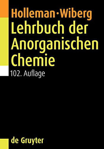 Lehrbuch der Anorganischen Chemie: Nils Wiberg (author),
