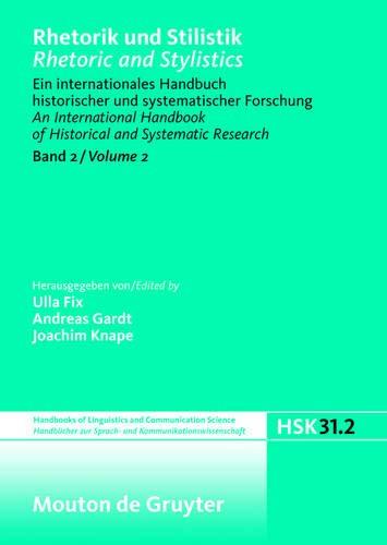 Rhetorik und Stilistik / Rhetoric and Stylistics. Halbband 2: Ulla Fix