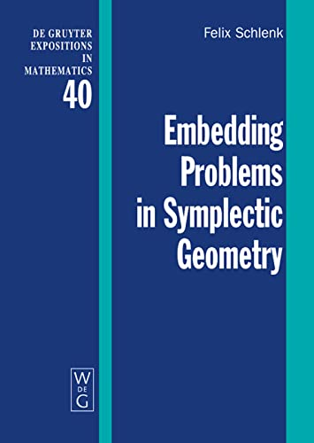 9783110178760: Embedding Problems in Symplectic Geometry (de Gruyter Expositions in Mathematics)