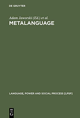 9783110178784: Metalanguage: Social and Ideological Perspectives