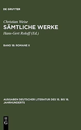 Christian Samtliche Werke (Augaben Deutscher Literature Des XV. Bis XVIII. Jahrhunderts) (Ausgaben ...