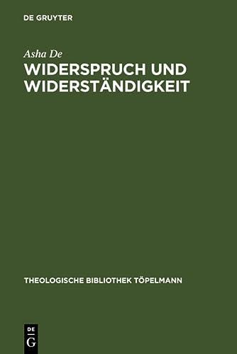 9783110181579: Widerspruch und Widerständigkeit (Theologische Bibliothek Tapelmann) (German Edition)