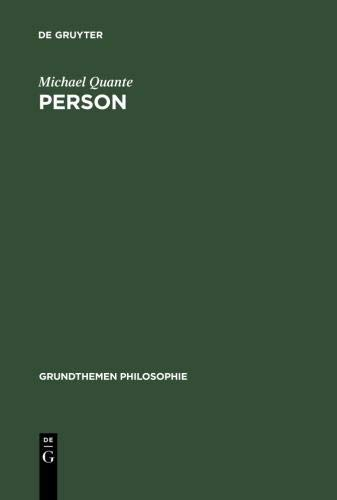 9783110181906: Person (Grundthemen Philosophie)