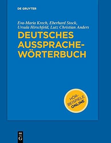 9783110182033: Deutsches Aussprachewörterbuch