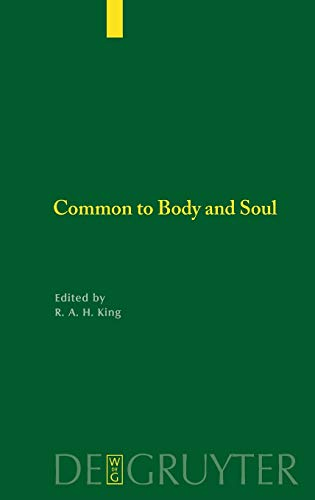 9783110183337: Common to Body and Soul