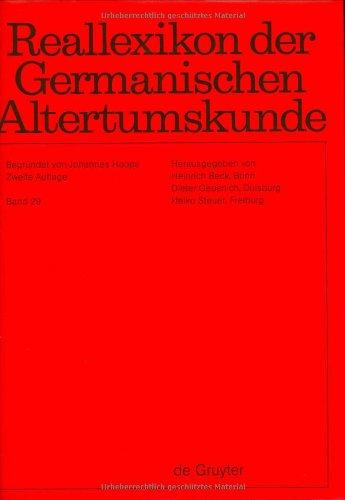 9783110183603: Reallexikon der Germanischen Altertumskunde: v. 29