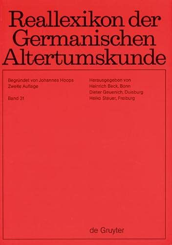 Reallexikon Der Germanischen Altertumskunde: Tiszalok - Vadomarius: Hoops, Johannes/ Beck,
