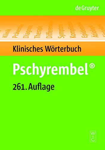 9783110185348: Pschyrembel Klinisches Worterbuch, 261. Auflage (German Edition)