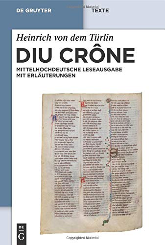 9783110186277: Diu Crône (de Gruyter Texte) (German Edition)