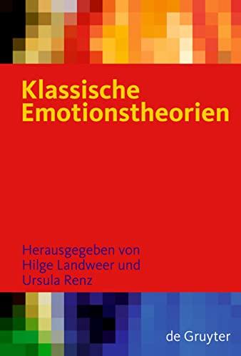 9783110188653: Klassische Emotionstheorien
