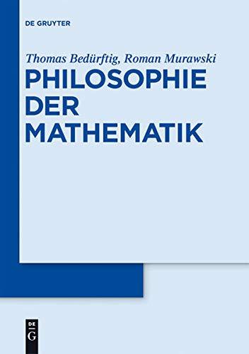9783110190939: Philosophie der Mathematik (German Edition)