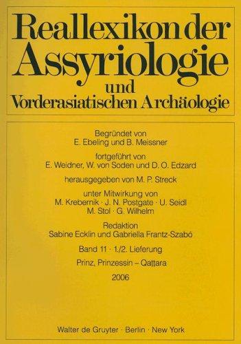 9783110191332: Reallexikon Der Assyriologie Und Vorderasiatischen Archaeologie