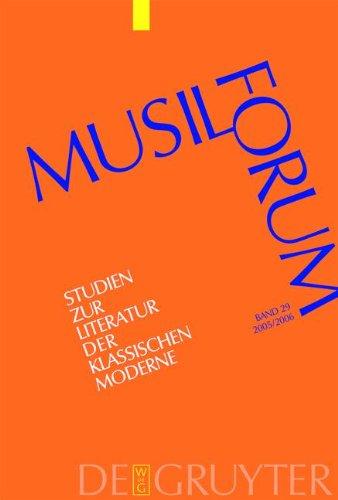 Musil - Forum: Studien Zur Literatur Der: Luserke - Jaqui,