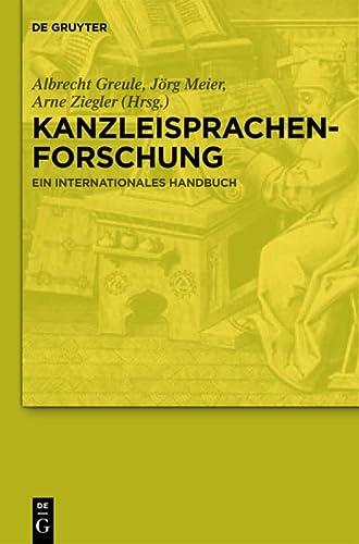 9783110193374: Kanzleisprachenforschung: Ein Internationales Handbuch (German Edition)