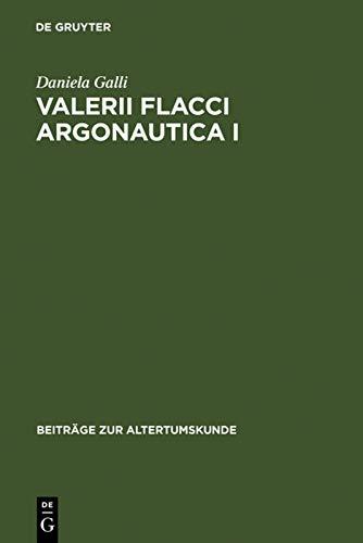9783110194814: Valerii Flacci Argonautica I: Commento