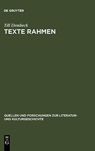 Texte rahmen: Till Dembeck