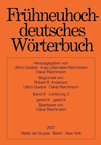 9783110199321: Frühneuhochdeutsches Wörterbuch (German Edition)