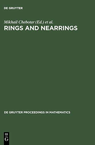 9783110199529: Rings and Nearrings (De Gruyter Proceedings in Mathematics)