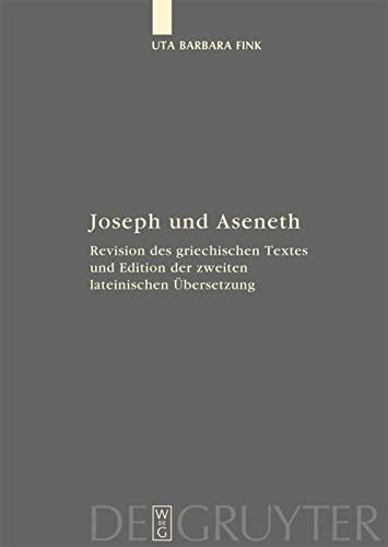 9783110201406: Joseph Und Aseneth (Fontes Et Subsidia Ad Bibliam Pertinentes) (German Edition)