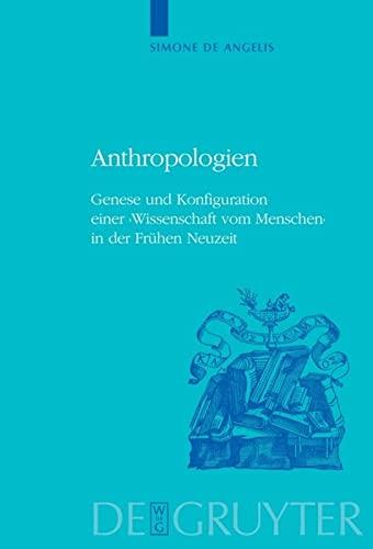 9783110202250: Anthropologien (Historia Hermeneutica. Series Studia)