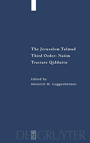 Tractate Qiddushin (Studia Judaica) (English and Arabic Edition) (3110202905) by Heinrich W. Guggenheimer