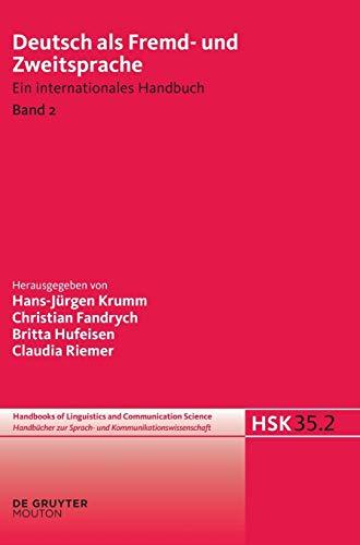 Deutsch als Fremd- und Zweitsprache. 2. Halbband: Hans-J�rgen Krumm
