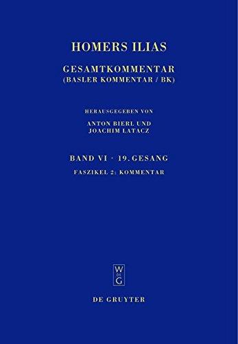 9783110206166: Homers Ilias Bd. 6 Fasz. 2 (Sammlung wissenschaftlicher Commentare) (German Edition)