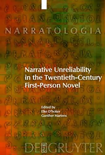 Narrative Unreliability in the Twentieth-Century First-Person Novel: Elke D'hoker