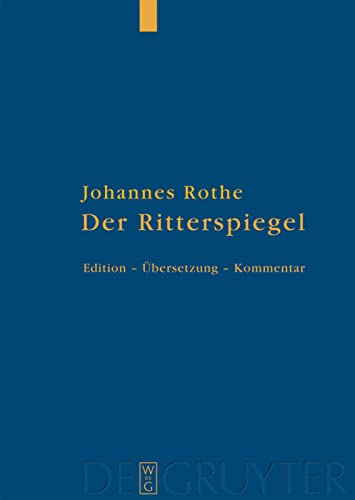 9783110208191: Der Ritterspiegel (German Edition)