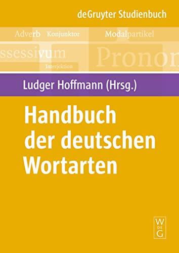9783110215076: Handbuch der deutschen Wortarten (de Gruyter Studienbuch)
