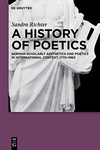 9783110222449: A History of Poetics: German Scholarly Aesthetics and Poetics in International Context, 1770-1960