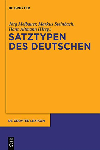 9783110224825: Deutsche Satztypen (De Gruyter Lexikon)
