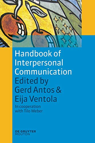9783110226041: Handbook of Interpersonal Communication (Handbooks of Applied Linguistics [Hal])