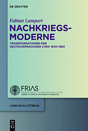 9783110229233: Nachkriegsmoderne (Linguae & Litterae) (German Edition)