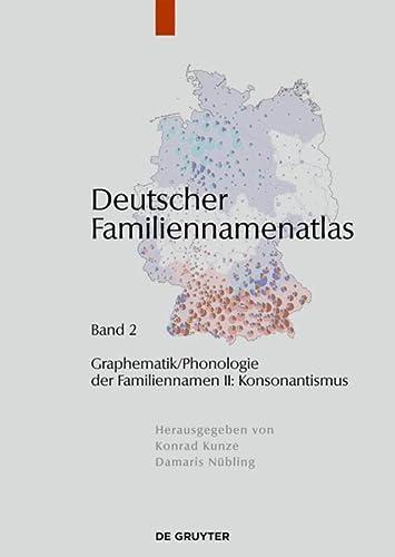 9783110229790: Deutscher Familiennamenatlas (Graphematik/ Phonologie Der Familiennamen II: Konsonantismus)