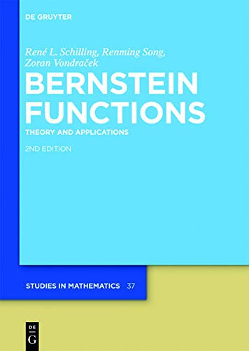 9783110252293: Bernstein Functions (De Gruyter Studies in Mathematics)
