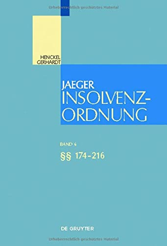 9783110253313: Insolvenzordnung. �� 174-216: Band 6