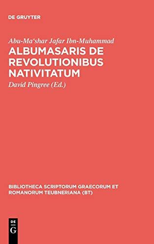 9783110263923: Albumasaris De Revolutionibus Nativitatum