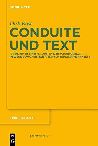9783110264715: Conduite und Text (Fr he Neuzeit)
