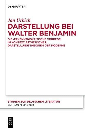 """Darstellung bei Walter Benjamin: Die """"Erkenntniskritische Vorrede"""": Jan Urbich"""