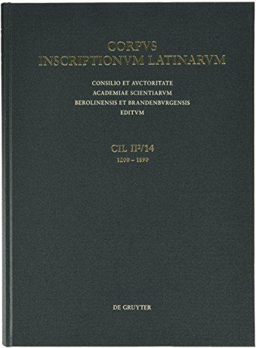 Conventvs Tarraconensis: Inscriptiones Hispaniae Latinae, Pars XIV: Geza Alfoldy (Editor)